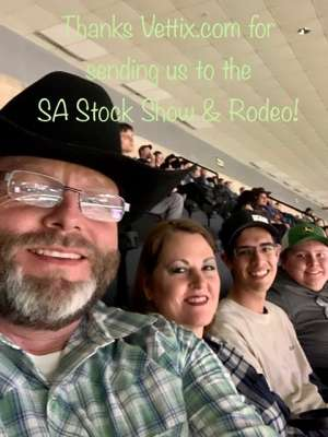 Curtis Hunter attended San Antonio PRCA Rodeo Followed by Colter Wall on Feb 12th 2020 via VetTix