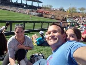Adam  attended Colorado Rockies vs. Los Angeles Angels - MLB ** Spring Training ** on Mar 1st 2020 via VetTix