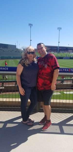 Ret. Gunny Raymond R Huerta attended Colorado Rockies vs. Los Angeles Angels - MLB ** Spring Training ** on Mar 1st 2020 via VetTix