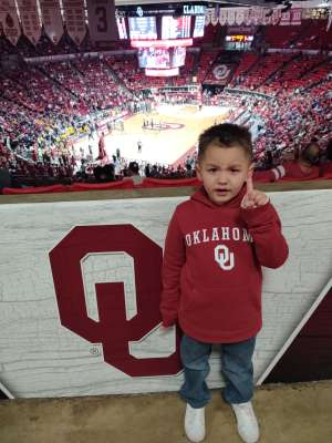 Cheyenne attended Oklahoma Sooners vs. West Virginia Mountaineers - NCAA Men's Basketball on Feb 8th 2020 via VetTix