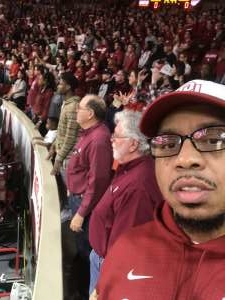 Fontane attended Oklahoma Sooners vs. West Virginia Mountaineers - NCAA Men's Basketball on Feb 8th 2020 via VetTix