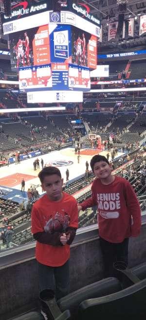 Singh Family  attended Washington Wizards vs. Chicago Bulls - NBA on Feb 11th 2020 via VetTix