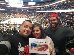 Jose attended Washington Wizards vs. Chicago Bulls - NBA on Feb 11th 2020 via VetTix