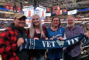 Anthony attended Washington Wizards vs. Cleveland Cavaliers - NBA on Feb 21st 2020 via VetTix