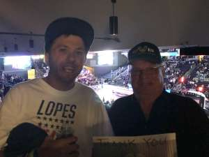 Dominick attended Grand Canyon University Lopes vs. Chicago State - NCAA Men's Basketball on Feb 15th 2020 via VetTix