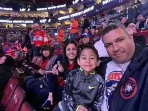 Christian attended Florida Panthers vs. Philadelphia Flyers - NHL on Feb 13th 2020 via VetTix