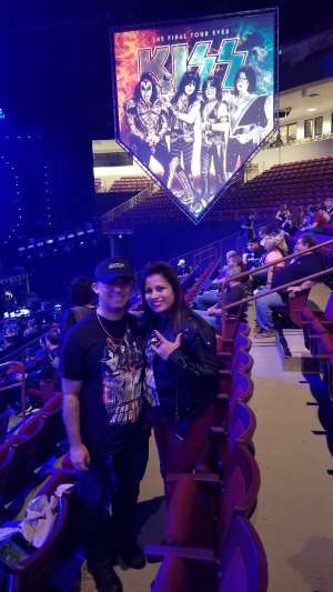 Victor attended Kiss: End of the Road World Tour on Feb 11th 2020 via VetTix