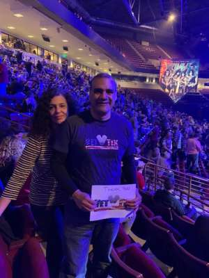 Edwin attended Kiss: End of the Road World Tour on Feb 11th 2020 via VetTix
