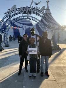 Melissa attended Cirque Du Soleil - Amaluna on Feb 6th 2020 via VetTix