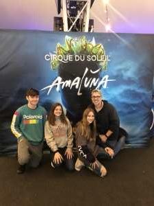 Richard attended Cirque Du Soleil - Amaluna on Feb 6th 2020 via VetTix