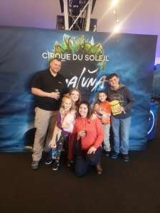 Kristen attended Cirque Du Soleil - Amaluna on Feb 6th 2020 via VetTix