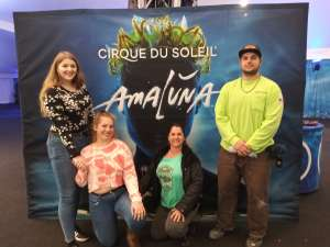 Sarah attended Cirque Du Soleil - Amaluna on Feb 13th 2020 via VetTix