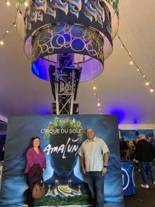 Raymond attended Cirque Du Soleil - Amaluna on Feb 13th 2020 via VetTix