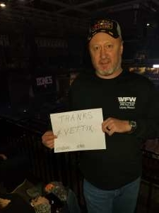Cody attended Korn & Breaking Benjamin Winter Tour on Feb 13th 2020 via VetTix