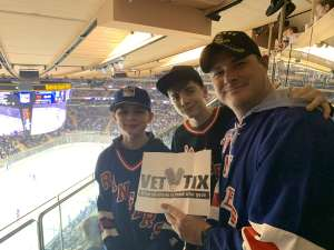 Ed attended New York Rangers vs. Toronto Maple Leafs - NHL on Feb 5th 2020 via VetTix
