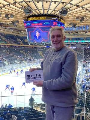 Kevin attended New York Rangers vs. Toronto Maple Leafs - NHL on Feb 5th 2020 via VetTix