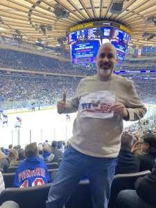 Charles attended New York Rangers vs. Buffalo Sabres - NHL on Feb 7th 2020 via VetTix