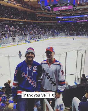 Brandon attended New York Rangers vs. Buffalo Sabres - NHL on Feb 7th 2020 via VetTix