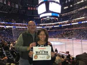 Donald attended Buffalo Sabres vs. Columbus Blue Jackets - NHL on Feb 13th 2020 via VetTix