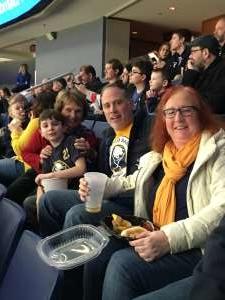 Brian attended Buffalo Sabres vs. Columbus Blue Jackets - NHL on Feb 13th 2020 via VetTix