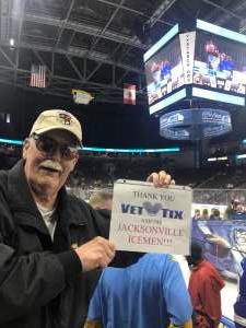 Ray attended Jacksonville Icemen vs. Newfoundland Growlers - ECHL on Mar 1st 2020 via VetTix