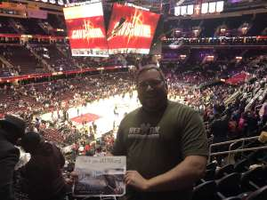Vaughn A. attended Cleveland Cavaliers vs. Philadelphia 76ers - NBA on Feb 26th 2020 via VetTix
