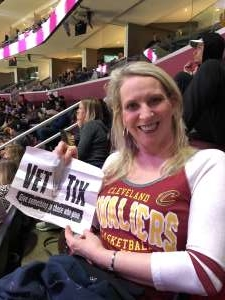 Missy attended Cleveland Cavaliers vs. Philadelphia 76ers - NBA on Feb 26th 2020 via VetTix