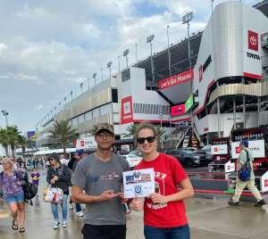 Ashley attended Daytona 500 - KB100 Kurt Busch Fan Appreciation Tickets - NASCAR Monster Energy Series on Feb 16th 2020 via VetTix
