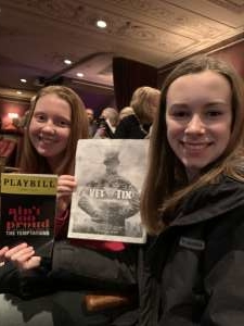 Steven attended Ain't Too Proud -the Life and Times of the Temptations on Feb 11th 2020 via VetTix