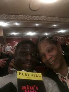 Larry attended Ain't Too Proud -the Life and Times of the Temptations on Feb 11th 2020 via VetTix