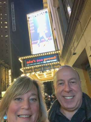 Randy and Brenda  attended Ain't Too Proud -the Life and Times of the Temptations on Feb 11th 2020 via VetTix