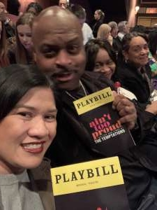 Rivers attended Ain't Too Proud -the Life and Times of the Temptations on Feb 11th 2020 via VetTix