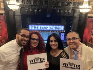 Bieu attended Ain't Too Proud - The Life and Times of The Temptations on Feb 13th 2020 via VetTix