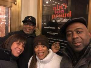 Sean Alfred attended Ain't Too Proud - The Life and Times of The Temptations on Feb 13th 2020 via VetTix