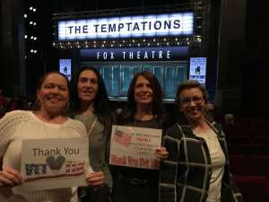 Loretta attended Ain't Too Proud - The Life and Times of The Temptations on Feb 13th 2020 via VetTix