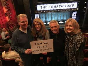 Vaughan attended Ain't Too Proud - The Life and Times of The Temptations on Feb 13th 2020 via VetTix