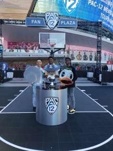 Monique & Family attended Pac-12 Men's Basketball Tournament - Session 2 on Mar 11th 2020 via VetTix