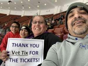 Brandy attended Anaheim Ducks vs. Calgary Flames - NHL on Feb 13th 2020 via VetTix
