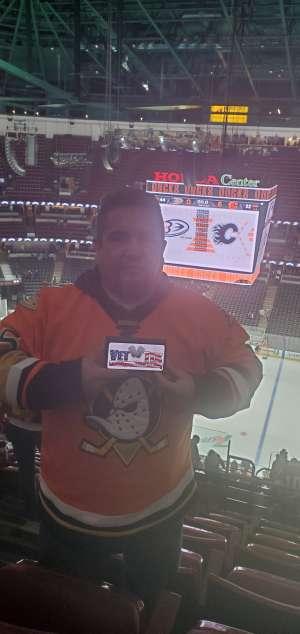 John attended Anaheim Ducks vs. Calgary Flames - NHL on Feb 13th 2020 via VetTix