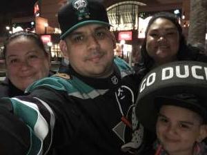 Christopher attended Anaheim Ducks vs. Calgary Flames - NHL on Feb 13th 2020 via VetTix