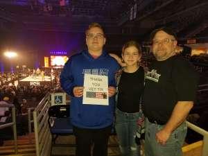 Gilbert attended Ring of Honor Wrestling on Feb 29th 2020 via VetTix