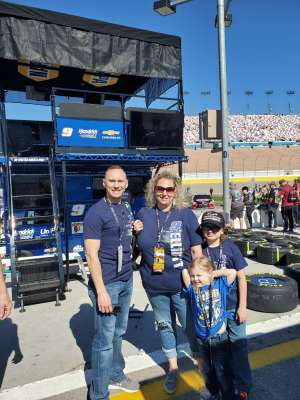TJ attended Pennzoil 400 at Las Vegas Motor Speedway ** Welcome Home Patriots Initiative ** on Feb 23rd 2020 via VetTix