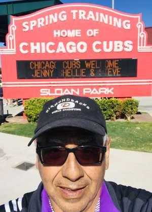 Tomas T. attended Chicago Cubs vs. Colorado Rockies - MLB ** Spring Training ** on Feb 25th 2020 via VetTix