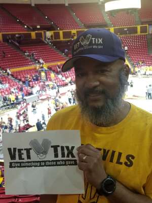 Bennie attended Arizona State Sun Devils vs. Stanford - NCAA Women's Basketball on Mar 1st 2020 via VetTix