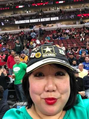 Hanna K. attended Chicago Bulls vs. Dallas Mavericks - NBA on Mar 2nd 2020 via VetTix