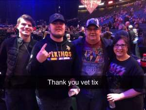 timothy attended Kiss: End of the Road World Tour on Feb 24th 2020 via VetTix