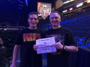Gregory attended Kiss: End of the Road World Tour on Feb 24th 2020 via VetTix