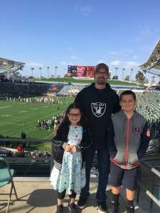 Andy attended Los Angeles Wildcats vs. DC Defenders - XFL on Feb 23rd 2020 via VetTix