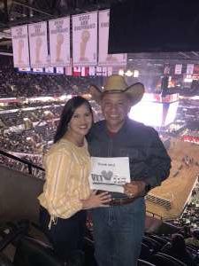 Ronnie attended San Antonio PRCA Rodeo Semi-Finals Followed by BUSH on Feb 19th 2020 via VetTix