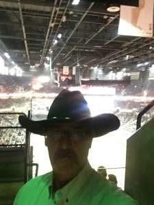 Frank attended San Antonio PRCA Rodeo Semi-Finals Followed by BUSH on Feb 19th 2020 via VetTix